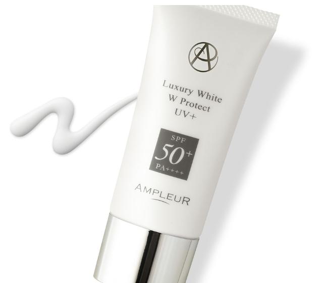 アンプルールの日焼け止め美容液は高SPF値なのに肌への負担が優しい!新発想のラグジュアリーホワイト WプロテクトUVプラスの成分特徴